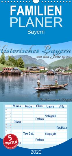 Das schöne Bayern um das Jahr 1900 – Fotos neu restauriert und detailcoloriert – Familienplaner hoch (Wandkalender 2020 , 21 cm x 45 cm, hoch) von Tetsch,  André