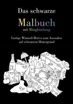 Das schwarze Malbuch mit Ringbindung von Langenkamp,  Heike