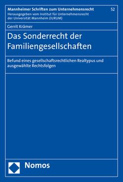 Das Sonderrecht der Familiengesellschaften von Krämer,  Gerrit