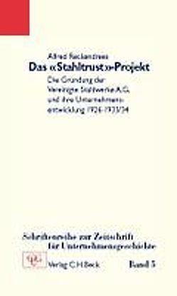 Das 'Stahltrust'-Projekt von Reckendrees,  Alfred
