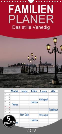 Das stille Venedig – Familienplaner hoch (Wandkalender 2019 , 21 cm x 45 cm, hoch) von Gronostay,  Norbert