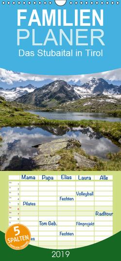 Das Stubaital in Tirol – Gipfelsturm und Gletscherseen – Familienplaner hoch (Wandkalender 2019 , 21 cm x 45 cm, hoch) von Brehm (www.frankolor.de),  Frank
