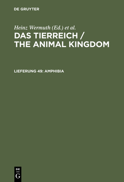 Das Tierreich / The Animal Kingdom / Amphibia von Nieden,  Fritz