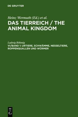 Ludwig Böhmig: Die wirbellosen Tiere / Urtiere, Schwämme, Nesseltiere, Roppenquallen und Würmer von Boehmig,  Ludwig