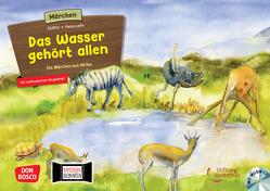 Das Wasser gehört allen. Ein Märchen aus Afrika, m. Audio-CD. Kamishibai Bildkartenset. von Kuntu, Lefin,  Petra, Weltethos,  Stiftung