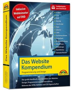 Das Website Handbuch – aktualisierte Ausgabe, Programmierung und Design von Hauser,  Tobias, Wenz,  Christian