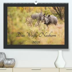 Das Weiße Nashorn (Premium, hochwertiger DIN A2 Wandkalender 2021, Kunstdruck in Hochglanz) von und Holger Karius,  Kirsten