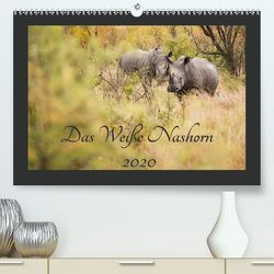 Das Weiße Nashorn(Premium, hochwertiger DIN A2 Wandkalender 2020, Kunstdruck in Hochglanz) von und Holger Karius,  Kirsten