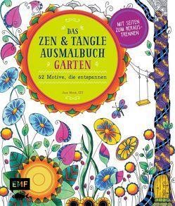 Das Zen und Tangle Ausmalbuch Garten von Monk,  Jane