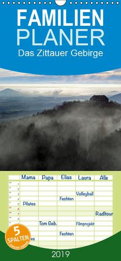 Das Zittauer Gebirge – – Familienplaner hoch (Wandkalender 2019 , 21 cm x 45 cm, hoch) von N.,  N.
