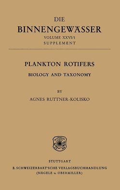 Das Zooplankton der Binnengewässer von Ruttner-Kolisko,  Agnes