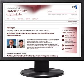 DATENSCHUTZdigital – Jahresabonnement bei Kombibezug Print und Datenbank von Holthaus,  Gabriele, Schaffland,  Astrid, Schaffland,  Hans-Jürgen, Wiltfang,  Noeme