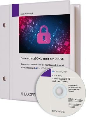 DatenschutzDOKU nach der DSGVO von Kulow,  Arnd-Christian