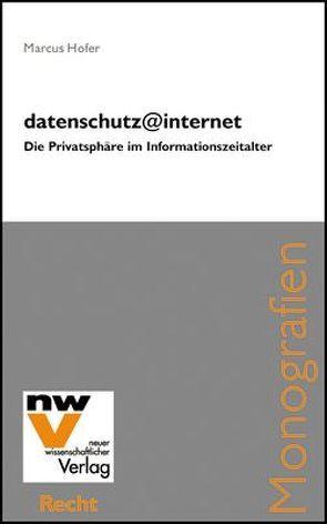datenschutz@internet von Hofer,  Marcus