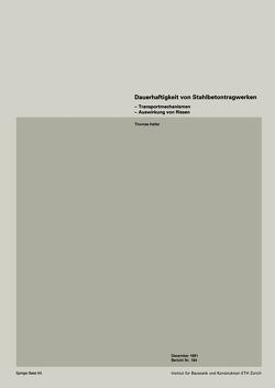 Dauerhaftigkeit von Stahlbetonwerken von Keller, MENN