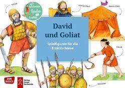 David und Goliat. Spielfiguren für die Erzählschiene. von Lefin,  Petra