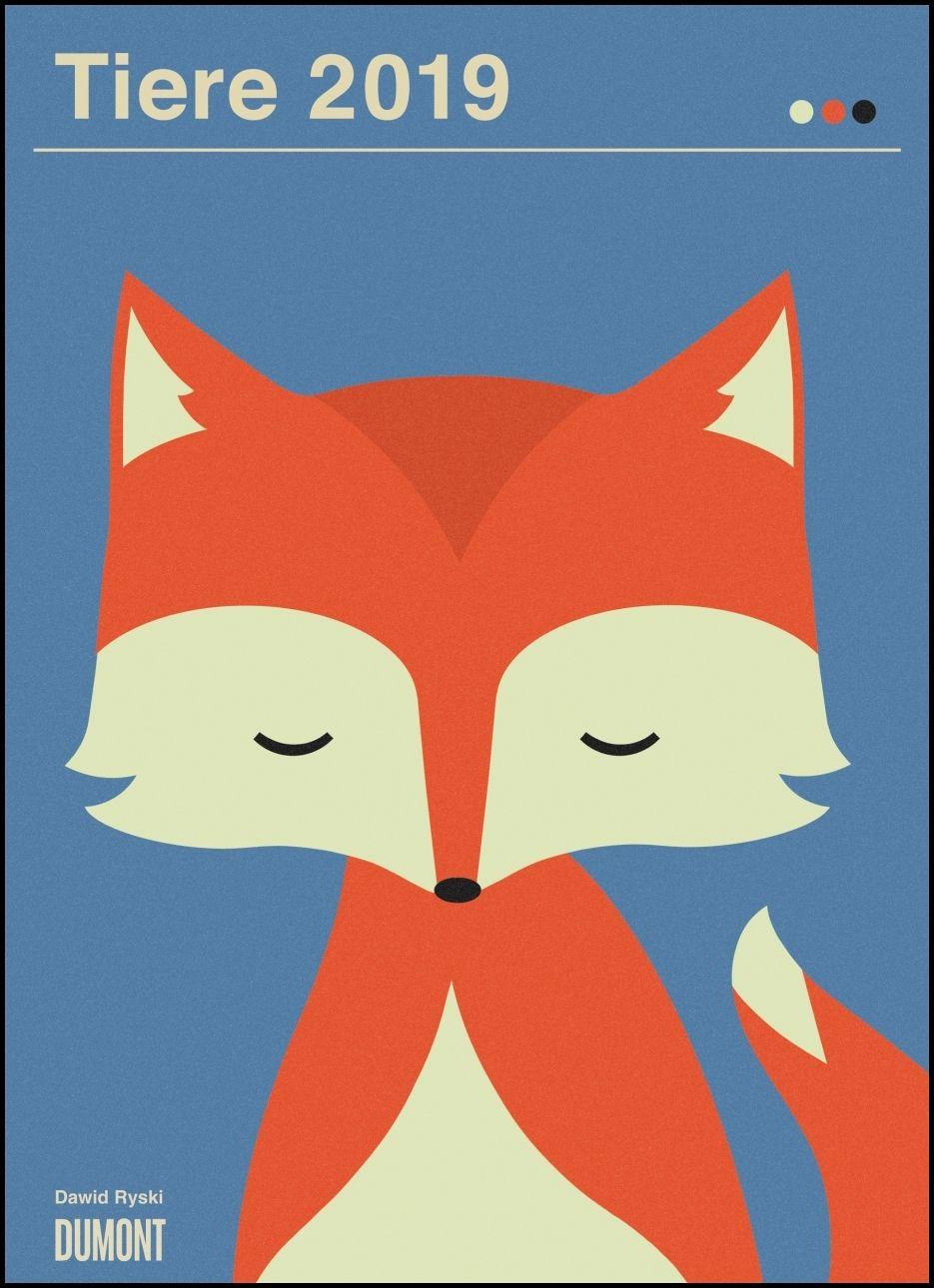 Dawid Ryski: Tiere 2019 – Kinder-Kalender – Poster-Format 49,5 x 6