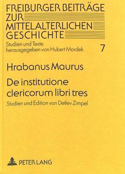 De institutione clericorum libri tres von Zimpel,  Detlev
