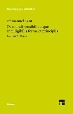 De mundi sensibilis atque intelligibilis forma et principiis von Kant,  Immanuel, Reich,  Klaus