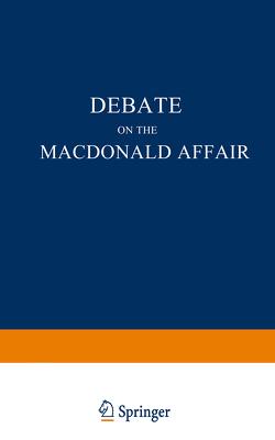Debate on the Macdonald Affair von Wehrenpfennig,  NA