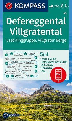 Defereggental, Villgratental, Lasörlinggruppe, Villgrater Berge von KOMPASS-Karten GmbH