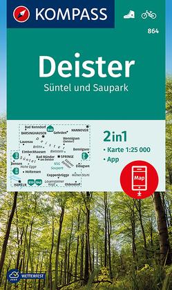Deister, Süntel und Saupark von KOMPASS-Karten GmbH