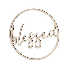 """Deko-Holzreif """"blessed"""""""