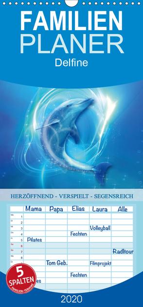 Delfine – Kalender – Familienplaner hoch (Wandkalender 2020 , 21 cm x 45 cm, hoch) von Shayana Hoffmann,  Gaby