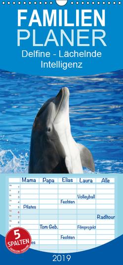 Delfine – Lächelnde Intelligenz – Familienplaner hoch (Wandkalender 2019 , 21 cm x 45 cm, hoch) von Stanzer,  Elisabeth