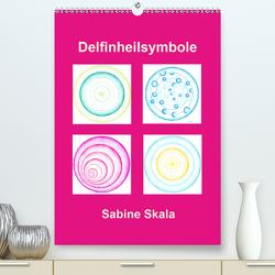 Delfinheilsymbole (Premium, hochwertiger DIN A2 Wandkalender 2021, Kunstdruck in Hochglanz) von Skala,  Sabine