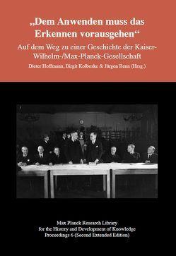 """""""Dem Anwenden muss das Erkennen vorausgehen"""" von Hoffmann,  Dieter, Kolboske,  Birgit, Renn,  Jürgen"""
