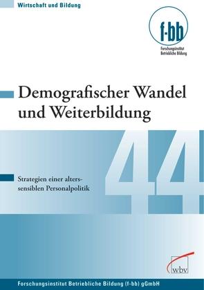 Demografischer Wandel und Weiterbildung von Loebe,  Herbert, Severing,  Eckart