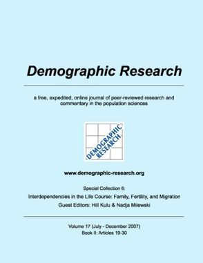 Demographic Research, Volume 17: Book II