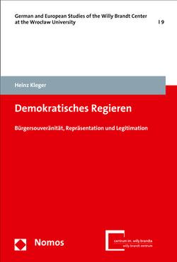Demokratisches Regieren von Kleger,  Heinz