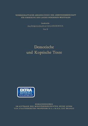 Demotische und Koptische Texte von Brandt,  Leo (Hrsg.)