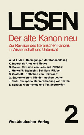 Der alte Kanon neu von Raitz,  Walter, Schütz,  Erhard