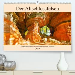 Der Altschlossfelsen – Größte Felsformation der Pfalz im herbstlichen Farbspiel (Premium, hochwertiger DIN A2 Wandkalender 2020, Kunstdruck in Hochglanz) von LianeM