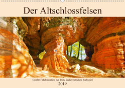 Der Altschlossfelsen – Größte Felsformation der Pfalz im herbstlichen Farbspiel (Wandkalender 2019 DIN A2 quer) von LianeM