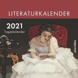 Der Anaconda Literatur-Kalender 2021 – Tageskalender von Strümpel,  Jan