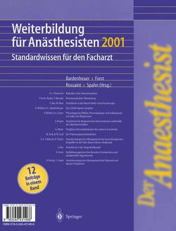 Der Anaesthesist Weiterbildung für Anästhesisten 1997 von Bardenheuer,  H.J., Forst,  H., Rossaint,  R., Spahn,  D.R.