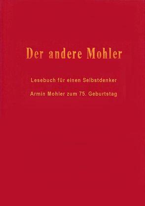 Der andere Mohler von Fröschle,  Ulrich, Klein,  Markus J, Paulwitz,  Michael