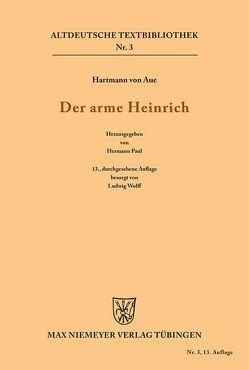 Der arme Heinrich von Hartmann, Paul,  Hermann, Wolff,  Ludwig