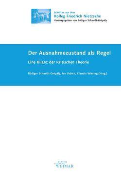 Der Ausnahmezustand als Regel von Schmidt-Grépály,  Rüdiger, Urbich,  Jan, Wirsing,  Claudia
