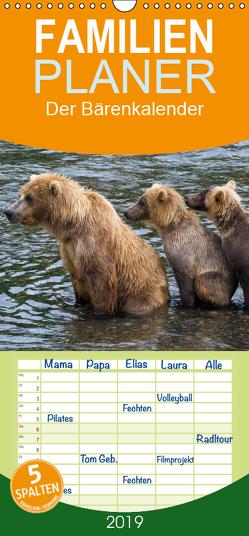 Der Bärenkalender – Familienplaner hoch (Wandkalender 2019 , 21 cm x 45 cm, hoch) von Steinwald,  Max