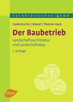 Der Baubetrieb von Haderstorfer,  Rudolf, Niesel,  Alfred, Thieme-Hack,  Martin