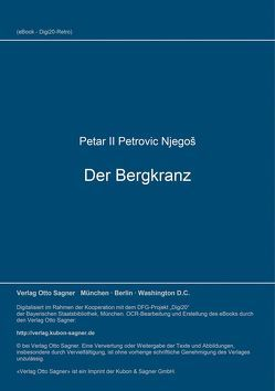Der Bergkranz von Njegoš, ,  Petar II. Petrovic