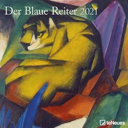 Der Blaue Reiter 2021 – Wand-Kalender – Broschüren-Kalender – 30×30 – 30×60 geöffnet