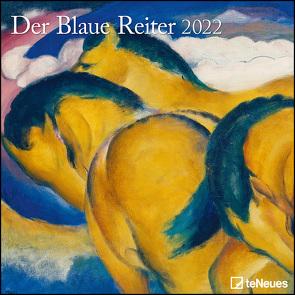 Der Blaue Reiter 2022 – Wand-Kalender – Broschüren-Kalender – 30×30 – 30×60 geöffnet