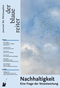 Der Blaue Reiter. Journal für Philosophie / Nachhaltigkeit von Coccia,  Emanuele, Friebel,  Daniela, Giel,  Klaus, Grober,  Ulrich, Obermeier,  Otto-Peter, Pelluchon,  Corine, Reusch,  Siegfried