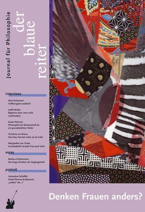 Der Blaue Reiter. Journal für Philosophie / Denken Frauen anders? von Butler,  Judith, Giel,  Klaus, Neiman,  Susan, Obermeier,  Otto P, Reusch,  Siegfried, Schwarzer,  Alice, Tesmar,  Ruth